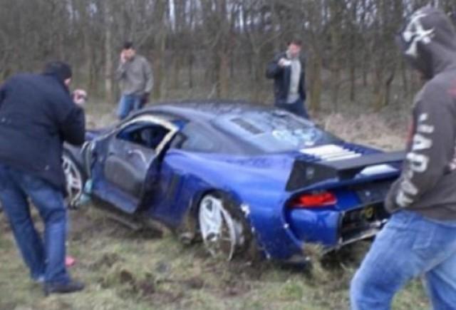 Un Porsche 9ff GT9-R a fost facut praf in Anglia