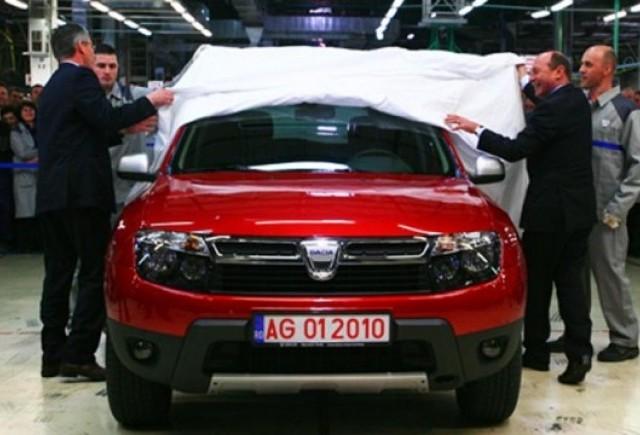 Basescu a primit o Dacia Duster rosie