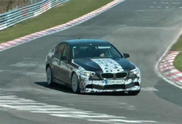 VIDEO: Noul BMW M5 a fost spionat  la Nurburgring