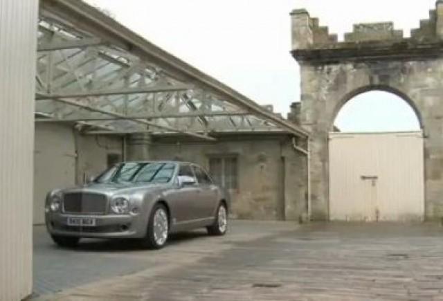 VIDEO: Bentley Mulsanne, filmat in Scotia