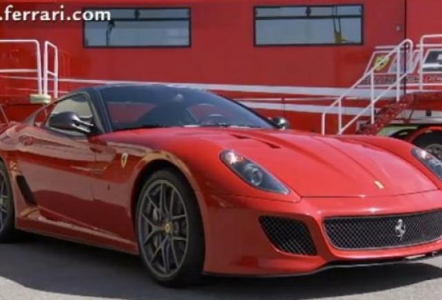 VIDEO: Cel mai bun sofer de teste Ferrari conduce noul Ferrari 599 GTO