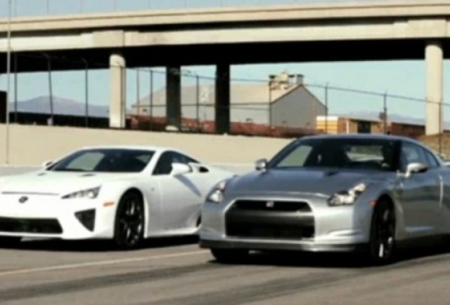 VIDEO: Lexus LF-A vs. Nissan GT-R