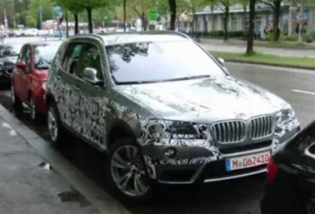 VIDEO: BMW X3, spionat la Munchen