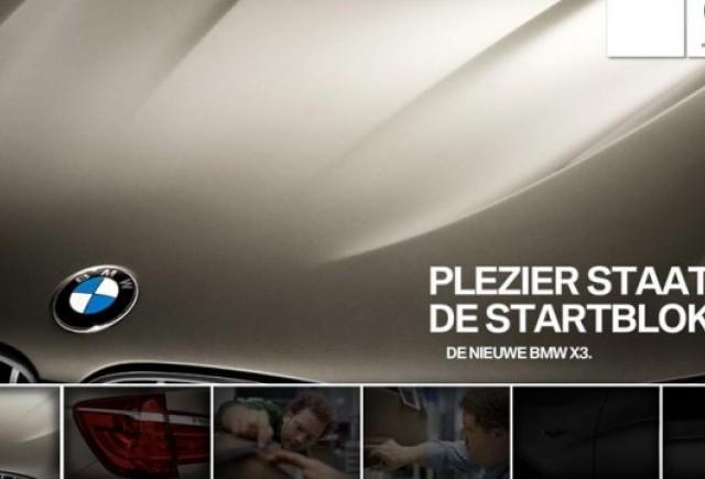 Primele imagini teaser cu noul BMW X3