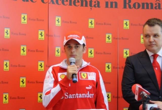 Fisichella a lansat noul Ferrari 458 Italia in Romania