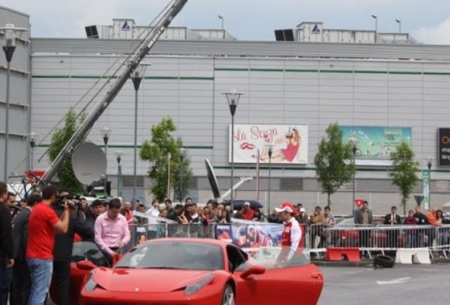 Galerie Foto: Fisichella a facut o demonstratie cu Ferrari 458 Italia in Romania