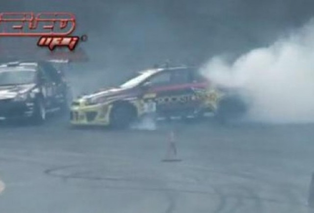 VIDEO: Accident la o demonstratie de drifting