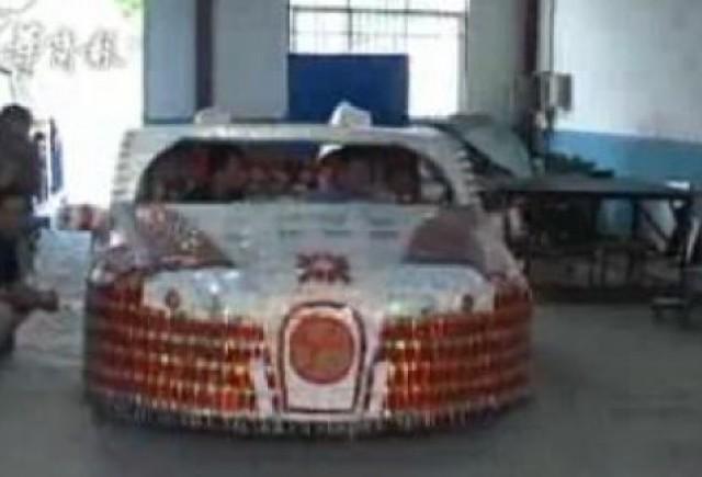 VIDEO: Bugatti Veyron, construit din pachete de tigari