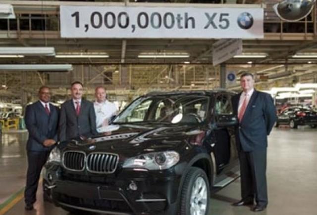BMW X5 a ajuns la 1 milion de unitati produse