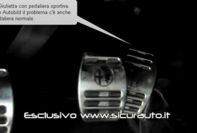 VIDEO: Alfa Romeo Giulietta are probleme cu pedala de acceleratie