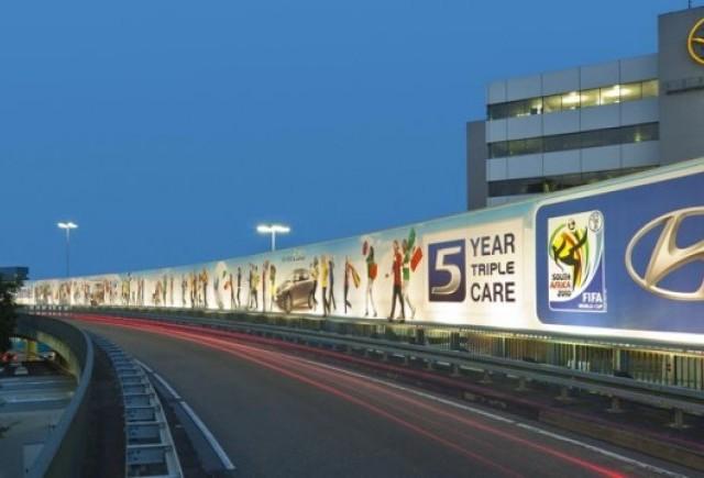 Hyundai are un panou de 600 metri patrati pe aeroportul din Frankfurt