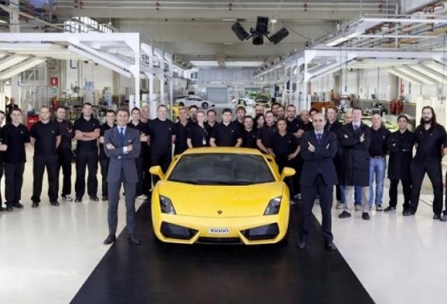 Lamborghini a produs 10.000 de unitati Gallardo