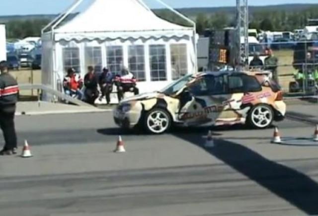 VIDEO: Un Volkswagen Golf R32 de 740 CP