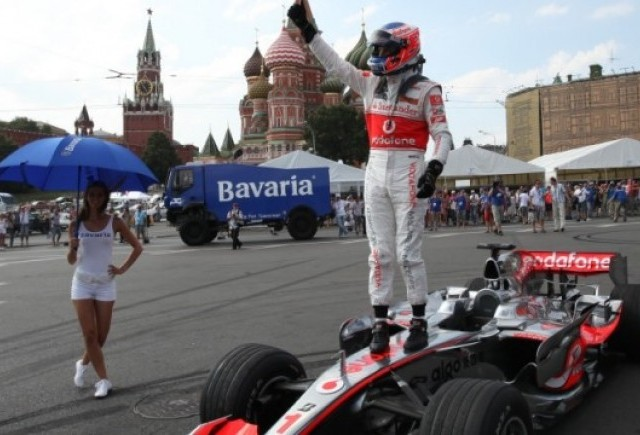 Jenson Button la Bavaria Moscow City Racing
