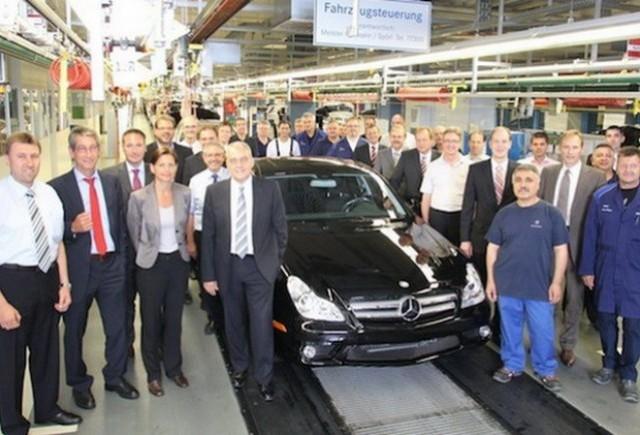 Mercedes-Benz a produs ultimul CLS