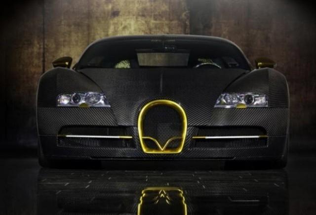 Bugatti Veyron, tunat in aur si fibra de carbon