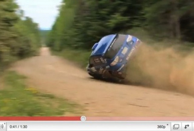 VIDEO: Incredibil - un Subaru se rastoarna si totusi castiga cursa!