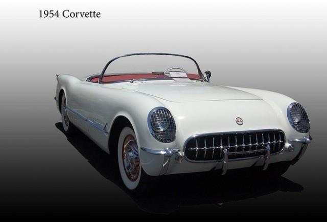 Decapotabila Chevrolet Corvette din 1954