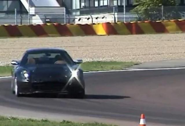 VIDEO: Noul Ferrari 612 Scaglietti in teste la Fiorano