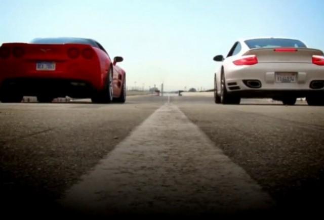 VIDEO: Corvette ZR1 vs Porsche 911 Turbo