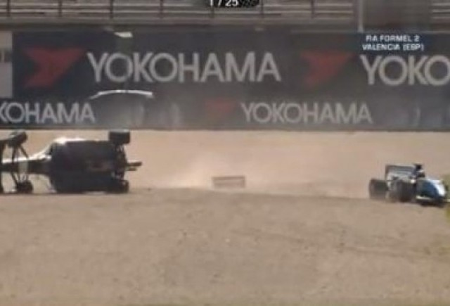 VIDEO: Accident in Formula 2 la Valencia