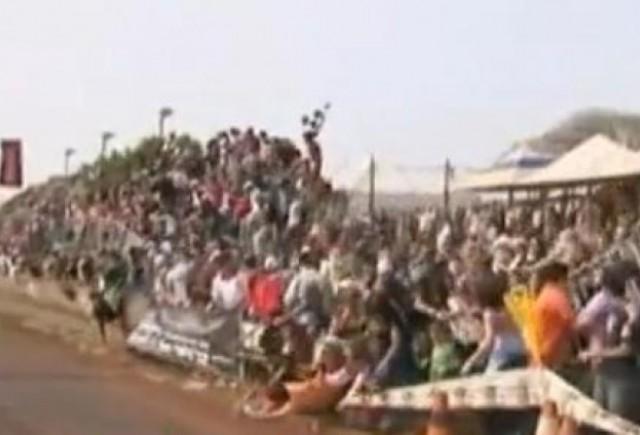 VIDEO: 100 de persoane ranite la o cursa de masini