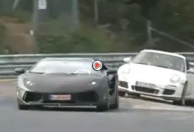 VIDEO: Lamborghini Jota spionat la Nurburgring
