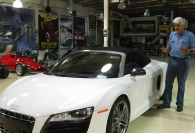 VIDEO: Jay Leno testeaza modelul Audi R8 V10 Spyder