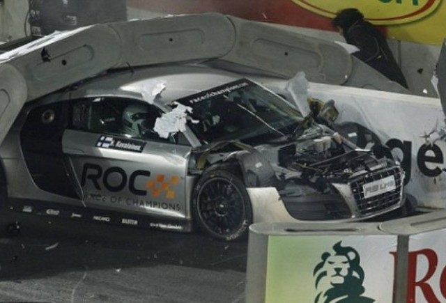 Kovalainen a scapat nevatamat dintr-un accident in Cursa Campionilor