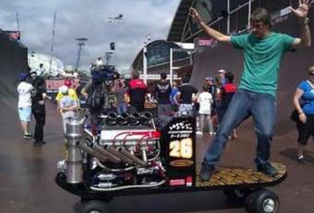 VIDEO: Un skateboard de 630 CP!
