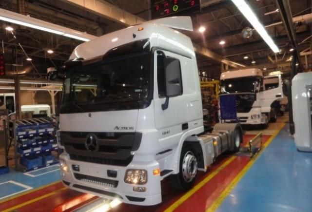 Uzina din Aksaray incepe productia modelului Mercedes Actros