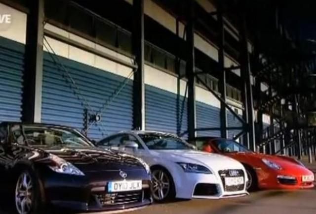 VIDEO: Porsche Boxter S vs Nissan 370Z vs Audi TT RS