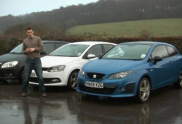 VIDEO: Volkswagen Polo GTI vs Seat Ibiza Cupra vs Skoda Fabia RS