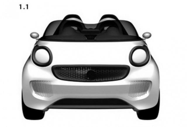 Mercedes patenteaza designul unui nou Smart Roadster