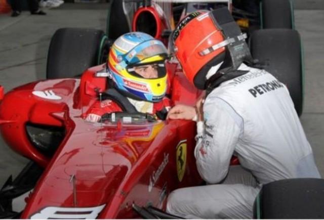 Alonso: Schumi este cea mai mare amenintare