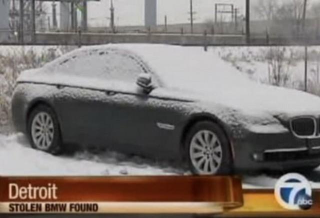 Politia americana recupereaza BMW-ul furat la Detroit 2011