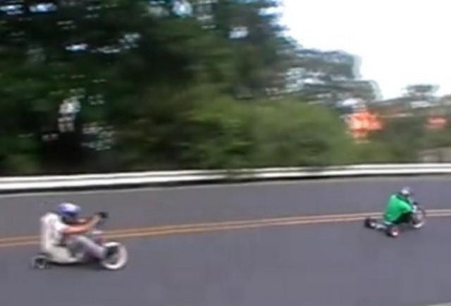VIDEO: Prima competitie de drifturi cu tricicleta din lume