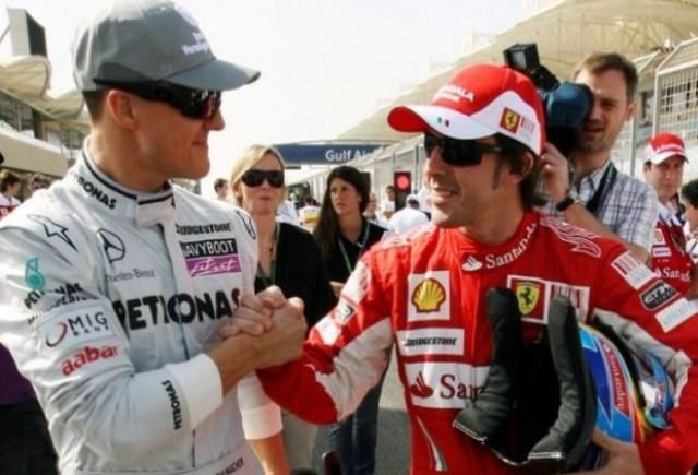 Alonso isi dezvaluie admiratia fata de Schumacher