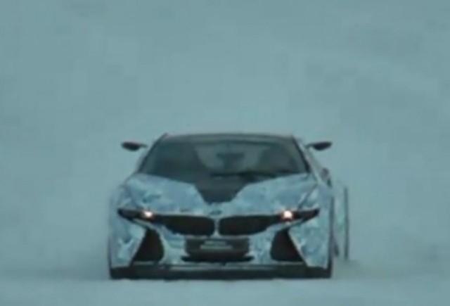 GALERIE VIDEO: Noul BMW i8 spionat in timpul testelor de iarna