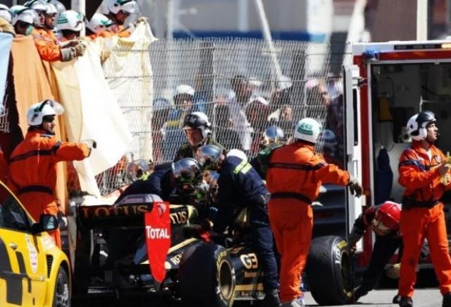Petrov a scapat fara rani grave dupa accidentul de la Monaco