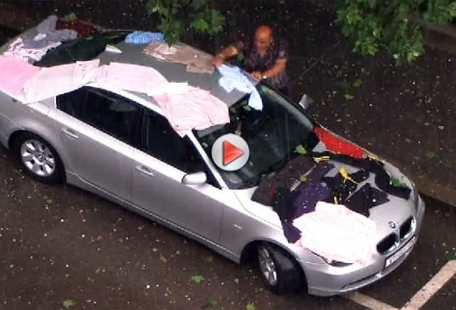 VIDEO: Cum să-ţi salvezi maşina de grindină!