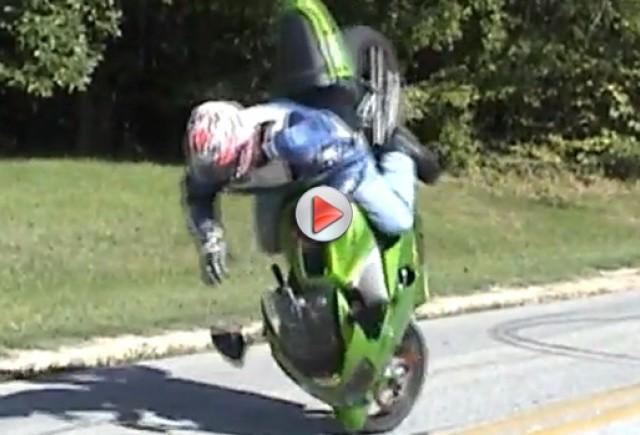 Incident  jenant cu motocicleta