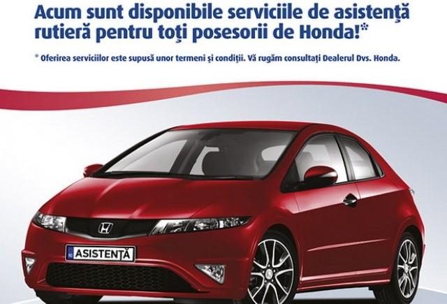 Honda Trading România anunţă extinderea serviciului Honda Asistenţă Rutieră