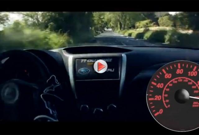 VIDEO: Subaru Impreza în viteză pe Insula Man