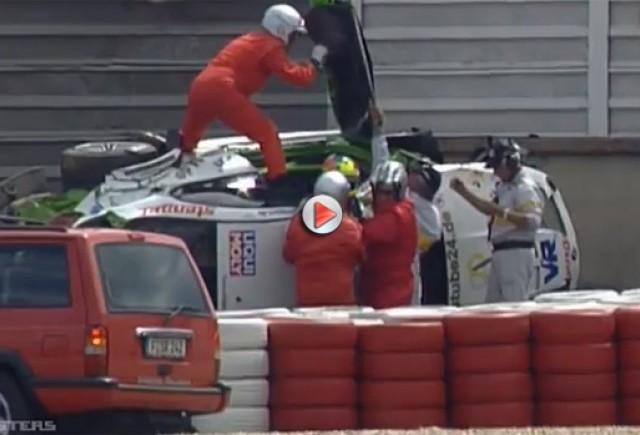 VIDEO: BMW Alpina B6 GT3 trece peste bariere si intra intr-un zid