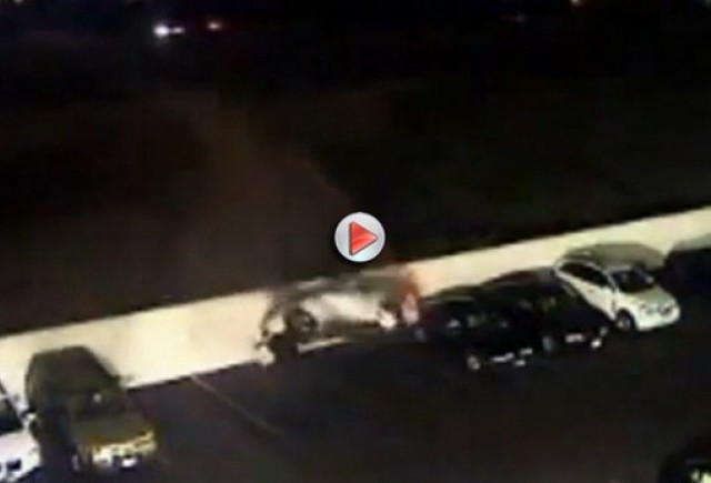 VIDEO: Accident Nissan 350Z in parcare