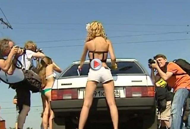 Armata lui Putin spala masini rusesti