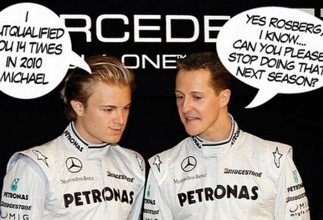 Schumacher: Rosberg e un as al calificarilor