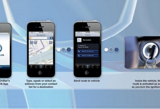 O aplicatie GM ce permite setarea unei destinatii de la distanta