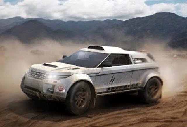 Range Rover Evoque cu motor BMW la Dakar